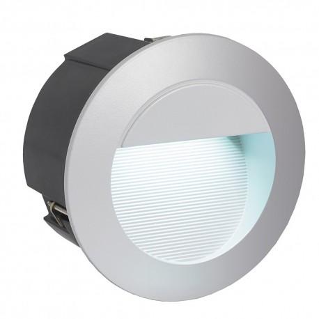 Lámpara Empotrable de Suelo Exterior LED Eglo Zimba-Led Plata Luz Neutra 2W