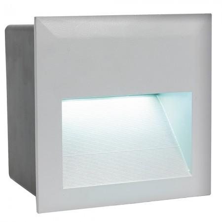 Lámpara Empotrable de Suelo Exterior LED Eglo Zimba-Led Plata Luz Neutra 4W