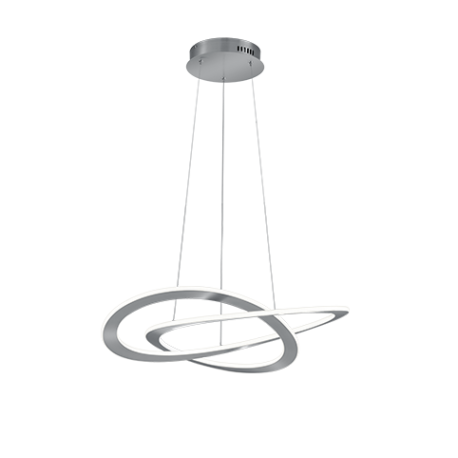 Lámpara Colgante LED Trio Oakland Níquel Mate Luz Cálida 52W