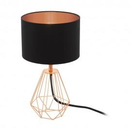 Lámpara de Sobremesa Eglo Carlton 2 Cobre 1 Bombilla E14