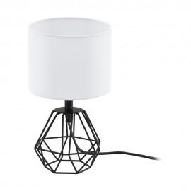 Lámpara de Sobremesa Eglo Carlton 2 Negro 1 Bombilla E14