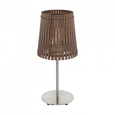 Lámpara de Sobremesa Eglo Sendero Marrón 1 Bombilla E27