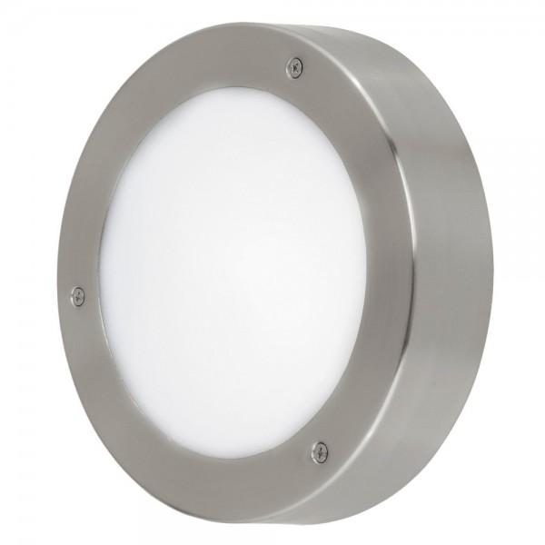 Lámpara de Exterior para Pared o Techo LED Eglo Vento 2 Níquel Mate Luz Cálida 5W
