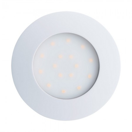 Lámpara Empotrable de Suelo Exterior LED Eglo Pineda-Ip Níquel Mate Luz Cálida 6W