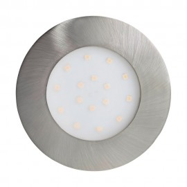 Lámpara Empotrable de Suelo Exterior LED Eglo Pineda-Ip Níquel Mate Luz Cálida 12W