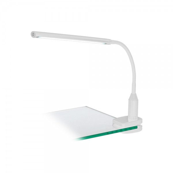 Flexo de Pinza LED Eglo Laroa Blanco Luz Neutra Regulable 5W