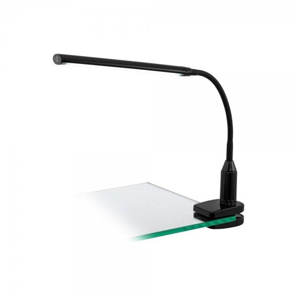 Flexo de Pinza LED Eglo Laroa Negro Luz Neutra Regulable 5W