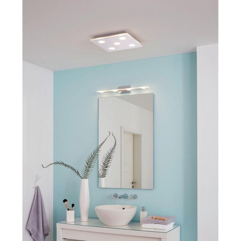 Eglo Cabus Plafón de Techo para Baño LED Plata Luz Cálida 22W