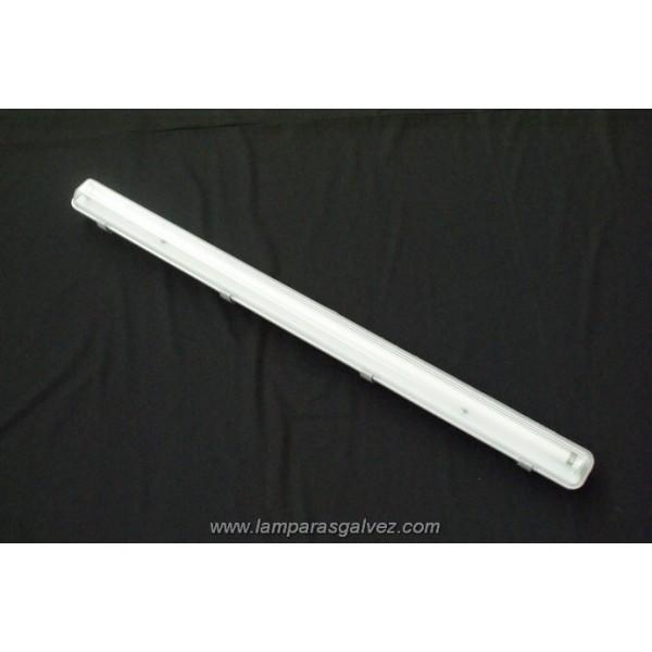 Plafón Fluorescente de Pantalla Estanca 126cm