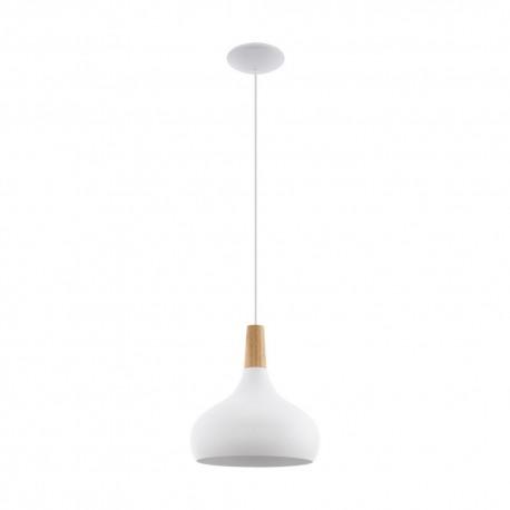 Lámpara Colgante Eglo Sabinar Blanco 1 Bombilla E27 28cm