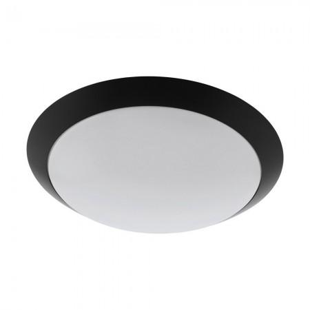 Lámpara de Exterior para Pared o Techo LED Eglo Pilone Negro Luz Cálida 11W