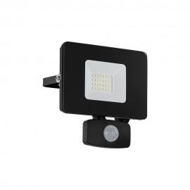 Proyector LED de Exterior Eglo Faedo 3 Negro Luz Blanca 20W 14cm