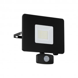 Proyector LED de Exterior Eglo Faedo 3 Negro Luz Blanca 30W 19cm