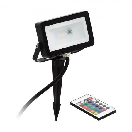 Proyector LED Eglo Faedo 4 Negro Luz Cálida 10W