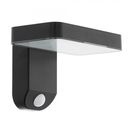 Aplique de Pared Exterior Solar LED Eglo Pastion Negro Luz Cálida 4W