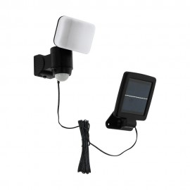 Aplique de Pared Exterior Solar LED Eglo Casabas Negro Luz Blanca 5W