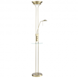 Lámpara de Pie LED con USB MDC Dina T Medalla 2 Luces Regulables