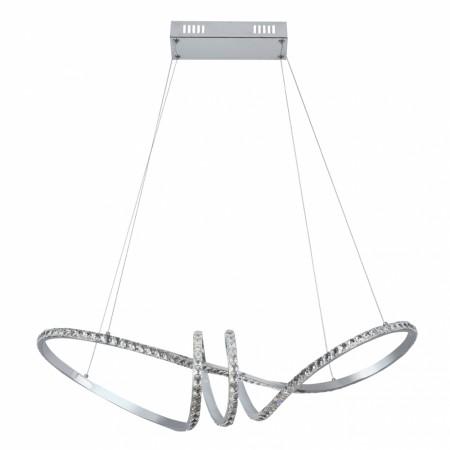 Lámpara Colgante LED Fabrilamp Dragón Cromo Cristal Luz Blanca 40W