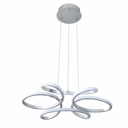 Lámpara Colgante LED Fabrilamp Dragón Cromo Cristal Luz Blanca 48W