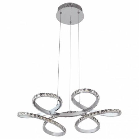Lámpara Colgante LED Fabrilamp Dragón Cromo Metal Cristal Luz Blanca 48W
