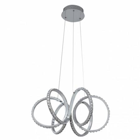 Lámpara Colgante LED Fabrilamp Dragón Cromo Cristal Luz Blanca 50W