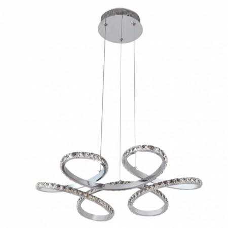 Lámpara Colgante LED Fabrilamp Dragón Cromo Cristal Luz Blanca 75W