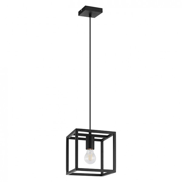 Lámpara Colgante Vintage Eglo Eldrick Negro 1 Bombillas E27