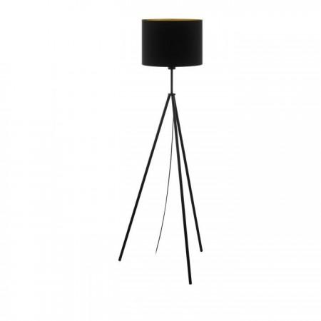 Lámpara de Pie Eglo Scigliati Negro Mate Pantalla negra 1 Bombilla E27