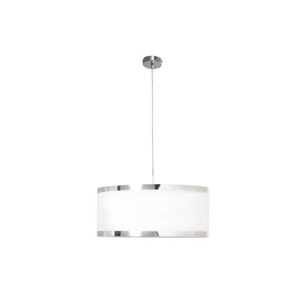 Lámpara Colgante Lanzarote 40 Cromo Blanco
