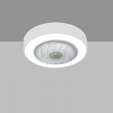 Ventilador de Techo sin palas Led ACB Blaast Blanco Mate Motor Ac 50cm
