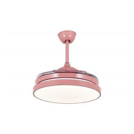 Ventilador de Techo LED Tegaluxe Picasso Rosa Aspas Retráctiles