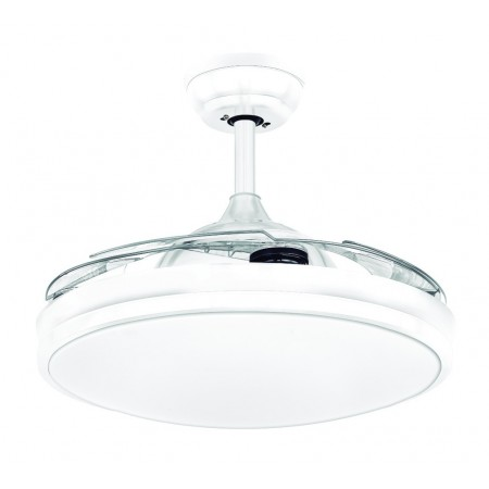 Ventilador de Techo LED Zioneled Cierzo Blanco Aspas Retráctiles