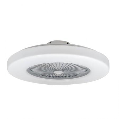 Ventilador de Techo Cristal Record Nela Blanco Sin Aspas Luz LED Regulable