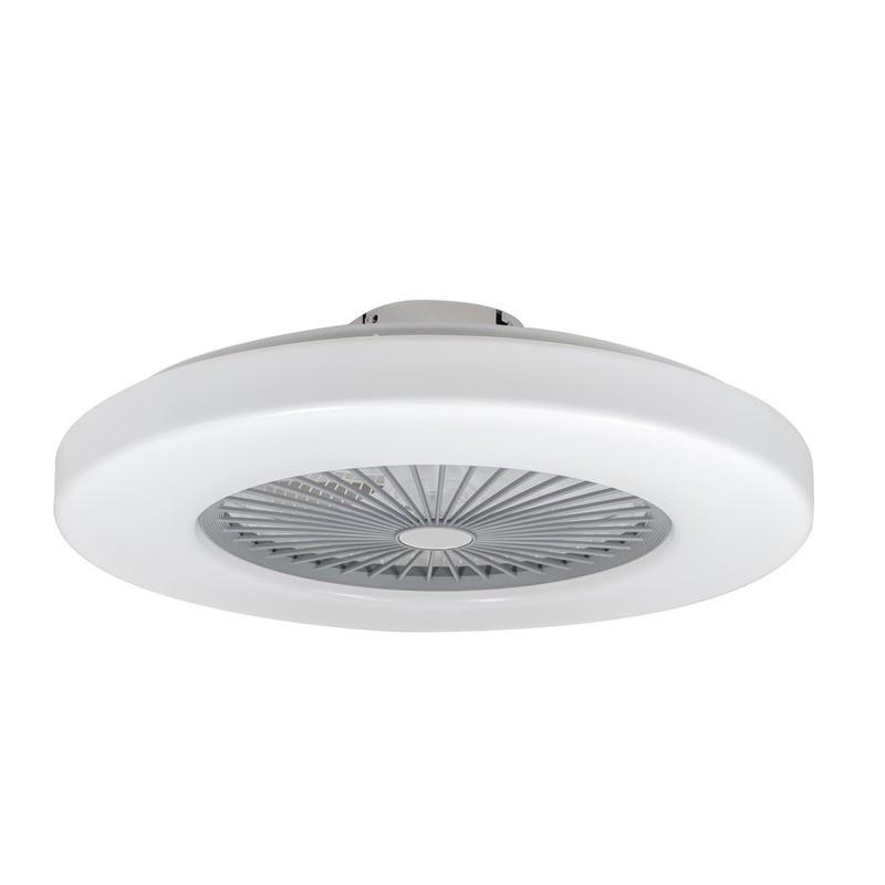 Cristal Record Nela Ventilador de Techo Blanco Sin Aspas LED