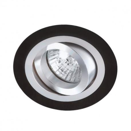 Halógeno empotrable LED aluminio-negro redondo GU-10