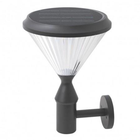 Aplique Solar Fabrilamp 6W 6500K con Sensor 38x26x18 Gris
