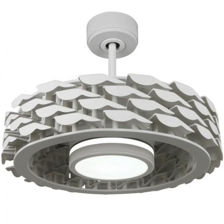 Ventilador de Techo CristalRecord Slice 54 Blanco Motor DC Luz Regulable