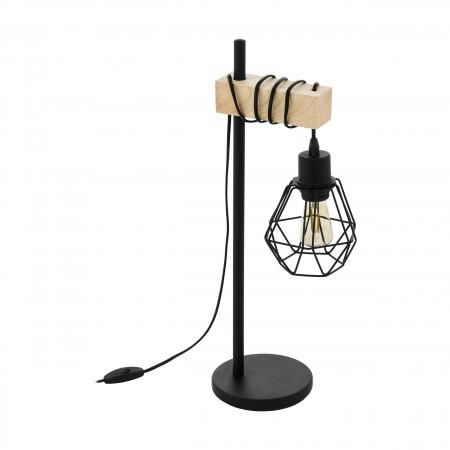 Lámpara de Sobremesa Vintage Eglo Townshend 5 Negro