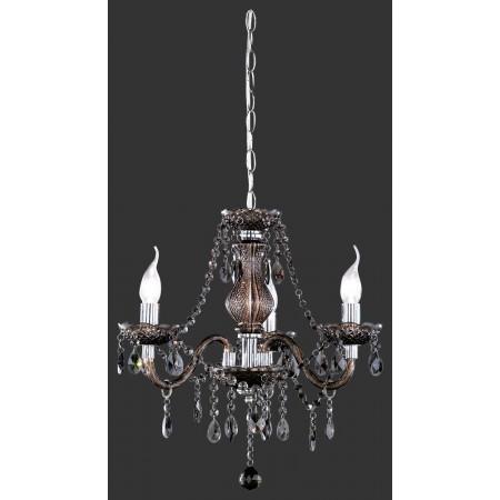 Lámpara de Brazos Trio Lüster Imitación Cristal Acrílico Negro