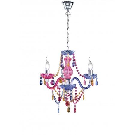 Lámpara de Brazos Trio Lüster Imitación Cristal Acrílico Multicolor