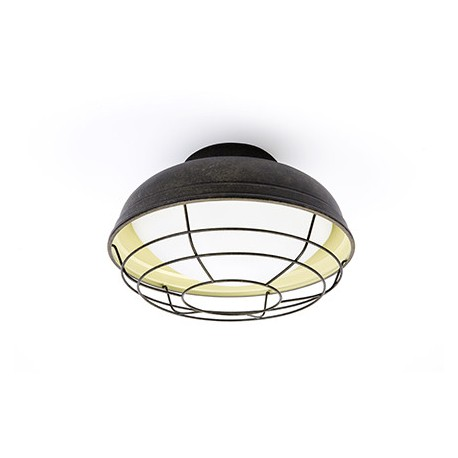 Plafón de Techo Industrial Helmet marrón envejecido 2 luces