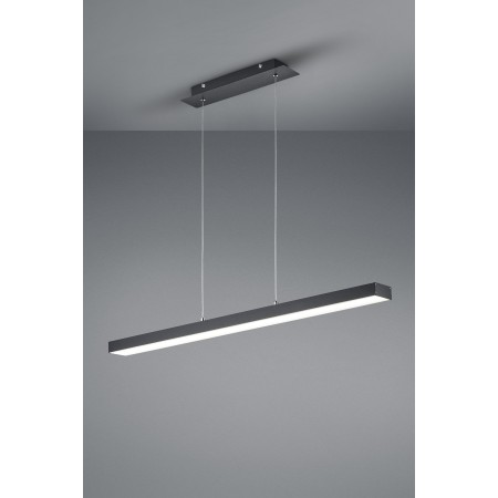 Lámpara Colgante Lineal Trio Agano LED Negro Regulable