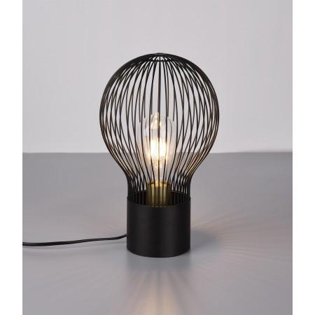 Lámpara de Sobremesa Trio Dave Negro 1xE27