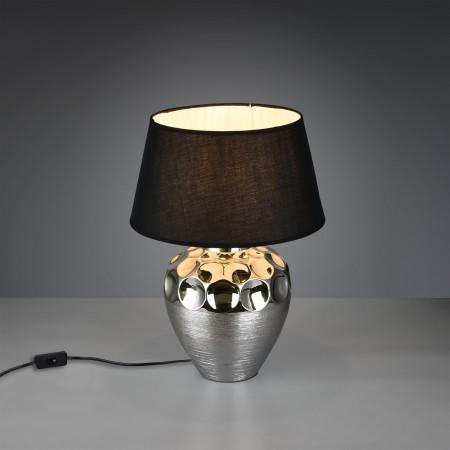 Lámpara de Sobremesa Trio Luanda Cerámica Negra 1xE27