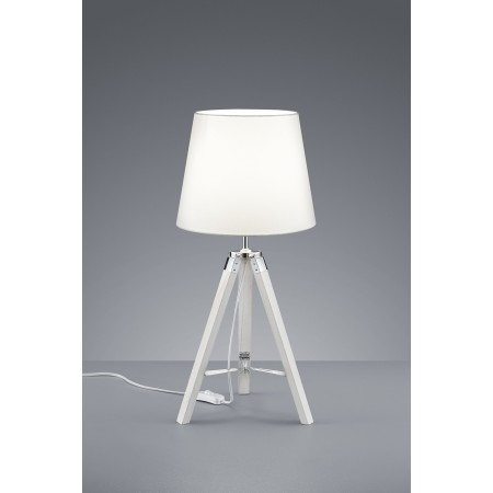 Lámpara de mesa Tripod blanca