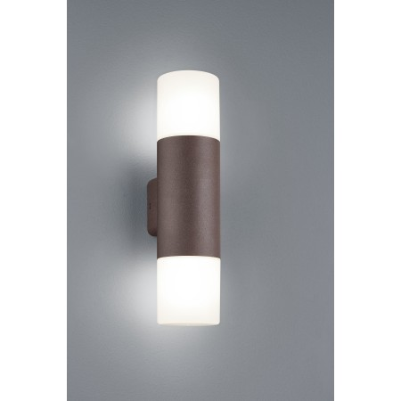 Aplique de Pared Exterior Led Trio Hoosic Oxido 2xE27