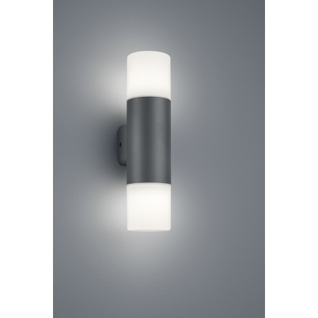Aplique de Pared Exterior Led Trio Hoosic Antracita 2xE27