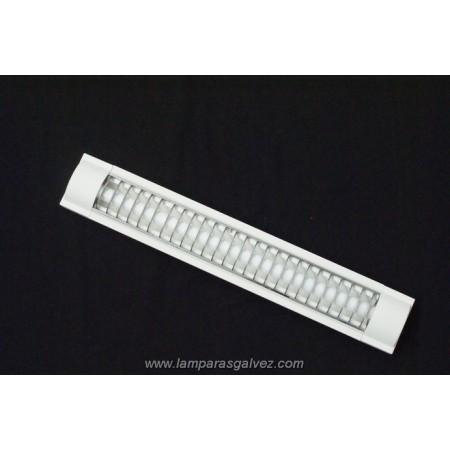 Fluorescente rejilla cromo PVC