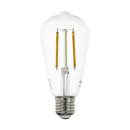 Bombilla E27 Pera LED Filamento transparente Smart Wifi TW 6W 64mm