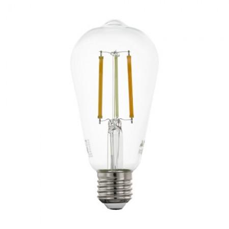 Bombilla E27 Pera LED Filamento transparente Smart Wifi TW 6W 64mm